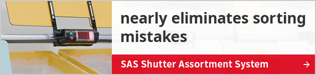 nearly eliminates sorting mistakes SAS Shutter Assortment System